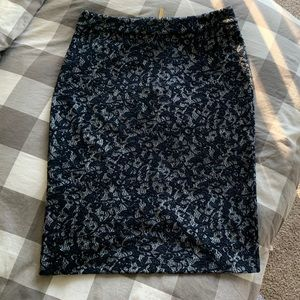 Michael Michael kors blue small knit skirt pencil